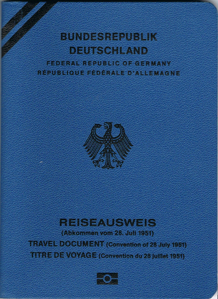 Flüchtlingspass der Bundesrepublik